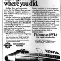 """""""BWIA Ticket Agency"""""""